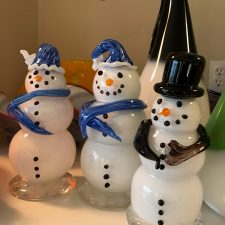 Snowman with Stocking Cap & Scarf